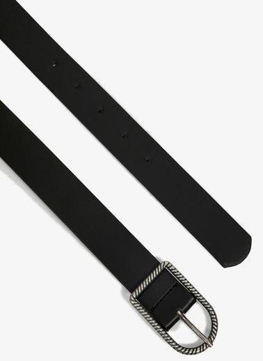 Koton Deri Görünümlü Kemer Siyah